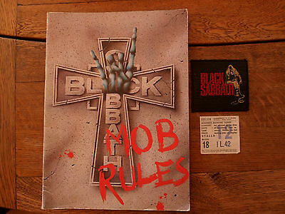 Black Sabbath Mob Rules Tour Programme/patch/ticket.dio.heven & Hell