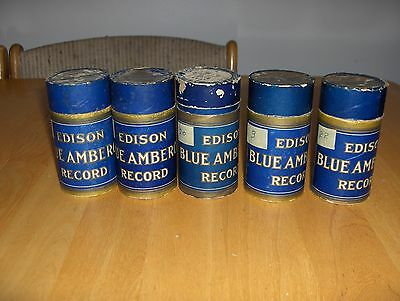 Edison Blue Amberol Record - lot of 5