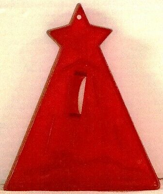 HTF Vintage STAR of BETHLEHEM Christmas NATIVITY Red HRM Cookie Cutter USA