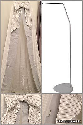 Nursery Bed Canopy / drape And Freestanding Stand