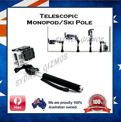 Selfie Stick Handle Pole for 3SIXT Full HD Sport Action Camera - Ski Go Handle