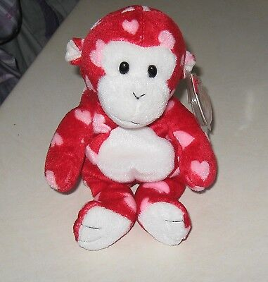 Ty Beanie baby BLISS the monkey  with hang tag retired plush toy
