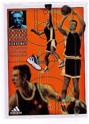"1995 Adidas ""Detlef Schrempf"" The Four Basketball Shoe Reproduction Print Ad"