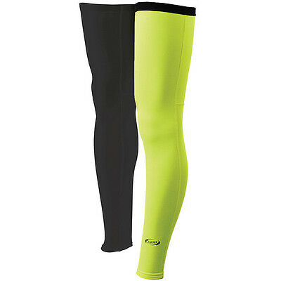 NEW BBB BBW-91 Small Large Leg Warmers Neon Yellow Winter Thermal Bike S L NOS