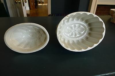 Two lovely Victorian china jelly moulds