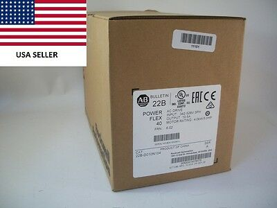 *Ships Today 2016* Allen Bradley 22B-D010N104 Power Flex 40 Drive New Sealed 5HP