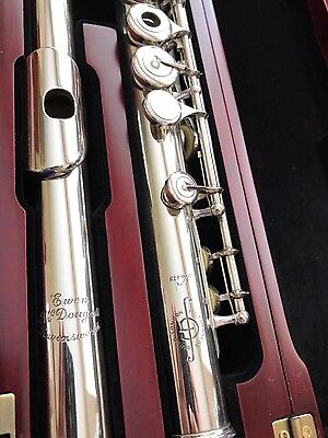 Ewen Mcdougall (#179) Flutemakers Guild Handcut Solid Silver Open-Hole Flute