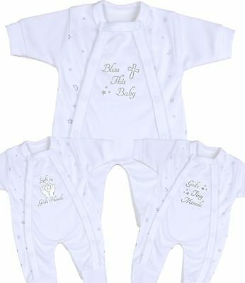 BabyPrem Premature Baby Clothes Sleepsuits Christening Faith Keepsakes 1.5-7.5b