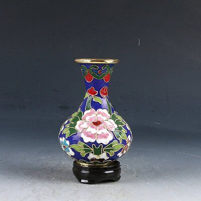 Chinese Cloisonne Hand-painted Flower Vase PJ439