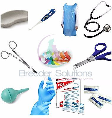 Budget Value Whelping Kit Canine Dog Breeding Birthing - 27 Items ID Bands