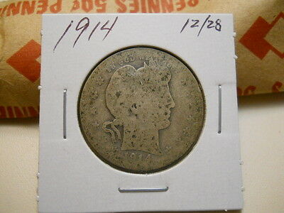 1914 Very Circulated Barber Quarter.   Aah