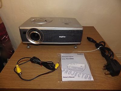 SANYO PLC-SW30 HOME CINEMA PROJECTOR IN G/W/ORDER see pictures .