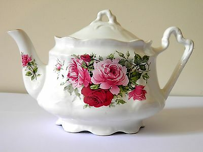 Pretty Vintage Teapot Rose Floral Design Arthur Wood Staffordshire