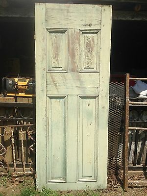 Vtg Architectural Salvage Wood Farm Door Rustic Cabin Dining Table ""