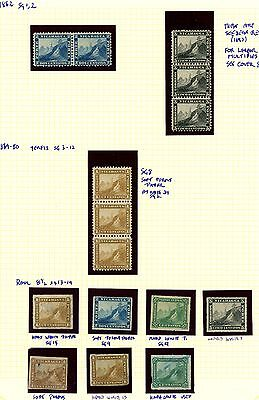 Nicaragua 1862 1869 #sg 1 -19, Excellent Stamp Album Page: Ra Carter Collection