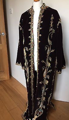 Heavily Beaded Victorian Alchemist Coat Aleister Crowley Connection