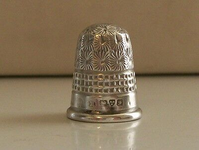 Antique Charles Horner Solid Silver Thimble Hallmarked Chester 1906