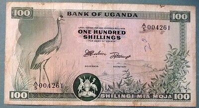 Uganda  100 Shillings Note From 1966,  P 4