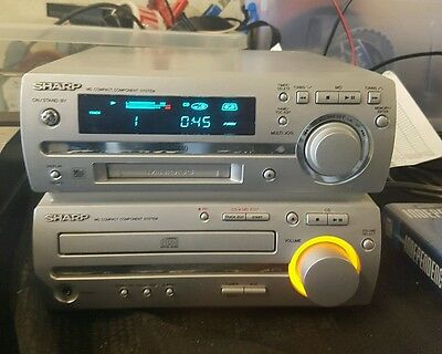 Sharp mini disc and Compact disc deck receiver amplifier unit MD-MX10