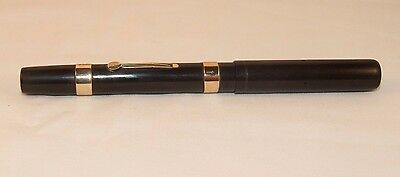 Vintage WATERMAN 52 BCHR  Fountain Pen 9K Solid GOLD FDW Bands