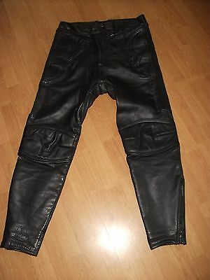 Mqp Leather Motorcycle Motorbike Trousers Size Eu 56 Uk 36