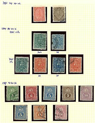 Paraguay 1881 1884 1887 Lion, Stamp Album Page: Ra Carter Collection