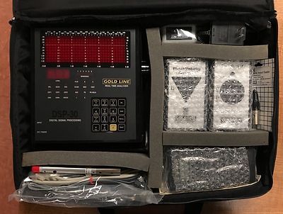 Gold Line DSP30 Portable Digital Real Time Audio Spectrum Analyzer Complete Kit