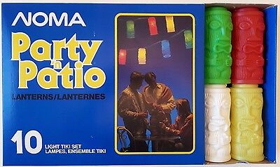 Vintage Noma Party 'n' Patio Tiki Lights Set of 10 Unused