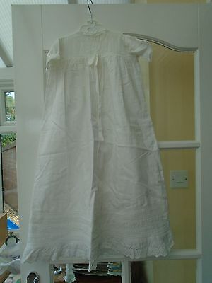 Antique cotton baby gown christening