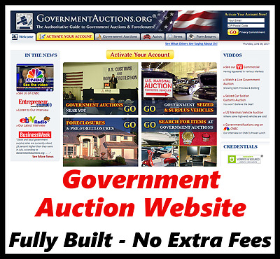 Website - Auction - Online Business - Internet Based - For Sale - Fully Built
