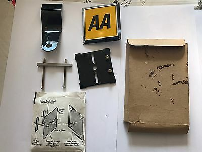 1960's Vintage Boxed Mint AA Car Grill Mascot Badge Square All Packing