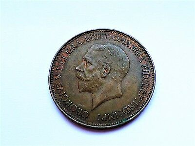 George V One Penny 1931-Extremely FINE GRADE