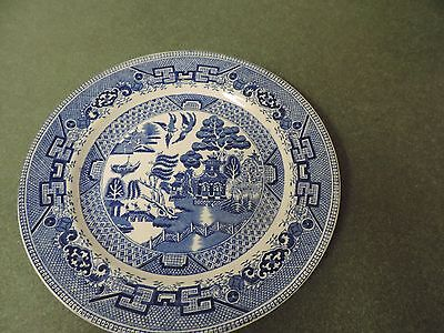 W. Ridgway & Co. England Blue Willow Engraved Dinner Plate 1832