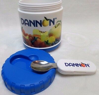 Dannon Yogurt Thermos Container With folding spoon by Pecoware