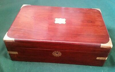 Lovely Antique wooden box - writing slope box