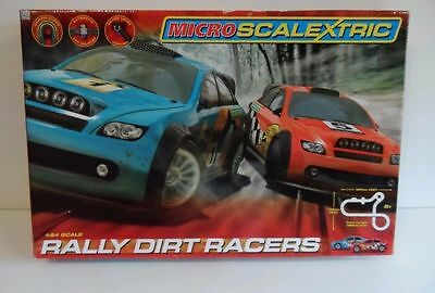 Micro Scalextric Rally Dirt Racers Racing Set BRAND NEW