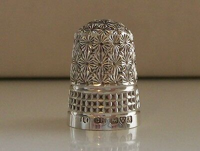 Stunning Antique Solid Silver Charles Horner Thimble Chester 1901