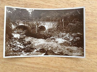 Real Photograph Postcard -  Bridge of Feugh and River.
