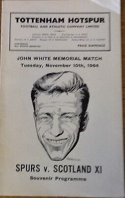 1964  John White Memorial Game----Spurs v Scotland X1