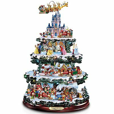 "Bradford Exchange - ""through The Years Tree"" Disney Rotating Christmas Tree"