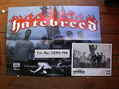 HATEBREED POSTER PROMO & LABEL PIC RARE EARLY LINE UP victory sxe punk hxc metal