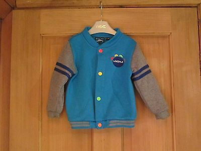 Boys Turquoise Cardigan Top Age 12-18 Months