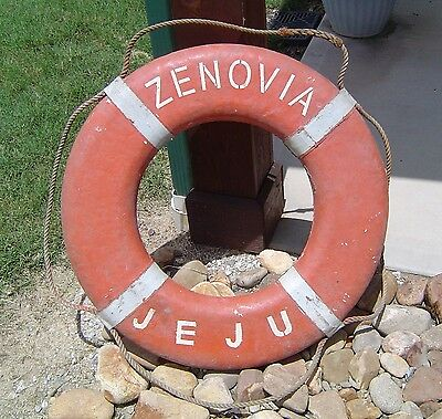 Vintage Nautical Ship's Life Preserver Ring - Zenovia Jeju - Decor Buoy