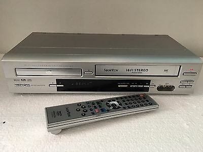 HITACHI DV-PF3E DVD Player / VHS  VCR + FB. Top Funktion
