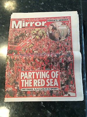Newspaper - Champions League Final 28.05.1999 Manchester United Daily Mirror