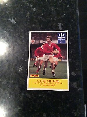 Postcard Size Photo Of Jpr Williams 1981 Issued By Rugby World Magazine