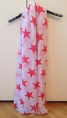 Gorgeous Star Print Summer Scarf Shawl Wrap Hush White Coral by Kappahl