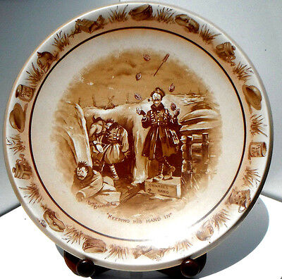 Grimwade's Bruce Bairnsfather Ware Old Bill - 'Keeping His Hand In' Large Plate