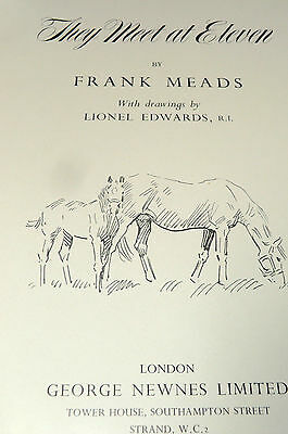 They Meet At Eleven by Frank Meads (Hardcover) hunting prints