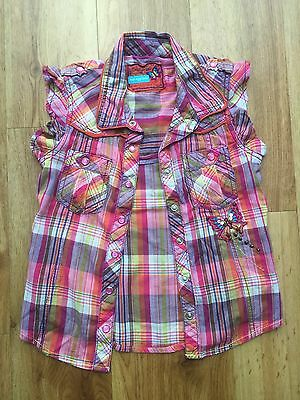 Next Girls Cotton Shirt Age 7 Years (6-7) With Embellishments